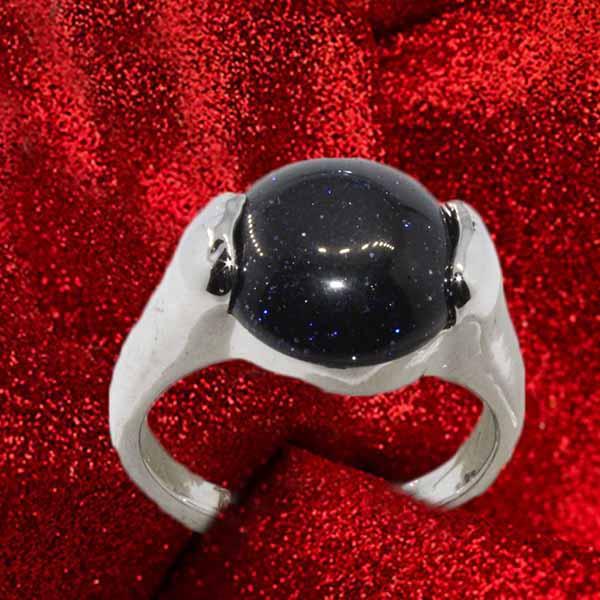 แหวนเงินทรายเงิน นำโชคประดับหญิงและชาย size 7 Silver Sand Stone Ring นำเข้า - พร้อมส่งW801 ราคา450บาท
