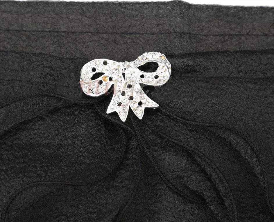 ผ้าคลุมไหล่ ผ้าแก้วสำหรับชุดแต่งงานและราตรีแฟชั่นเกาหลีสีดำสวยหรูหรา - พร้อมส่งYA010 ราคา400บาท
